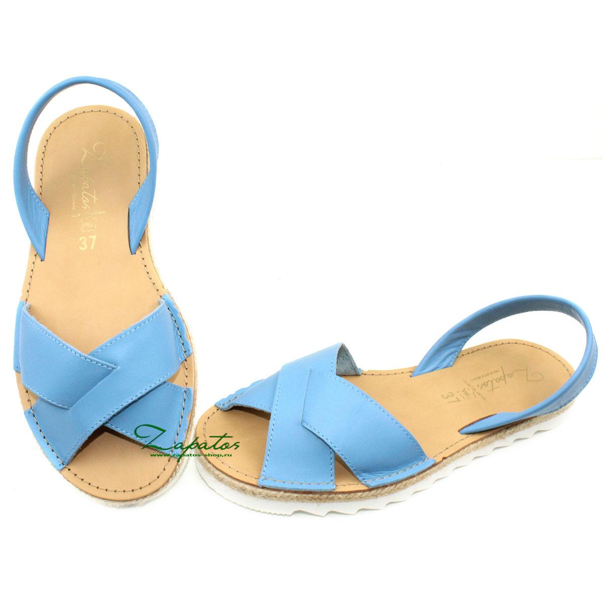 Абаркасы Zapatos Cruz-Yute celeste