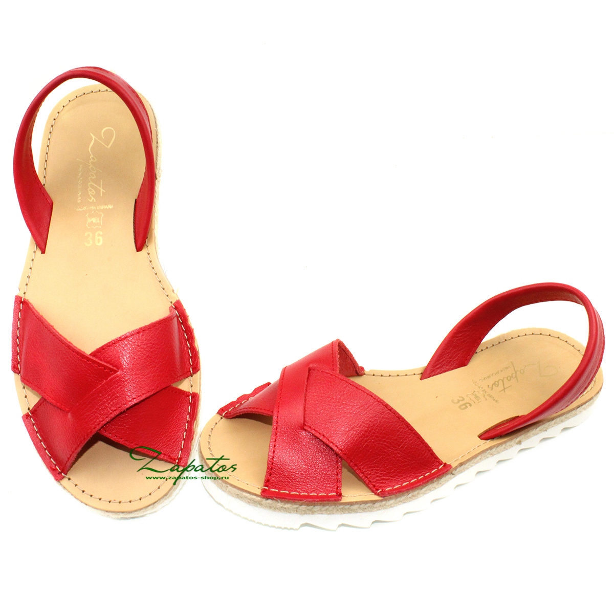 Zapatos Cruz-Yute rojo