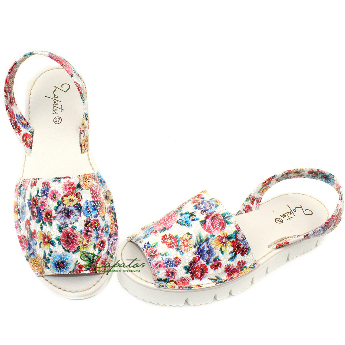 Абаркасы ZAPATOS · 2364-flores-rojo