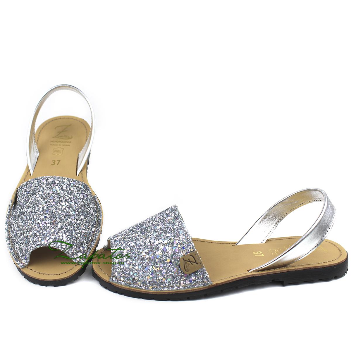 AB. Zapatos 320-5 GLITTER PLATA — АКЦИЯ