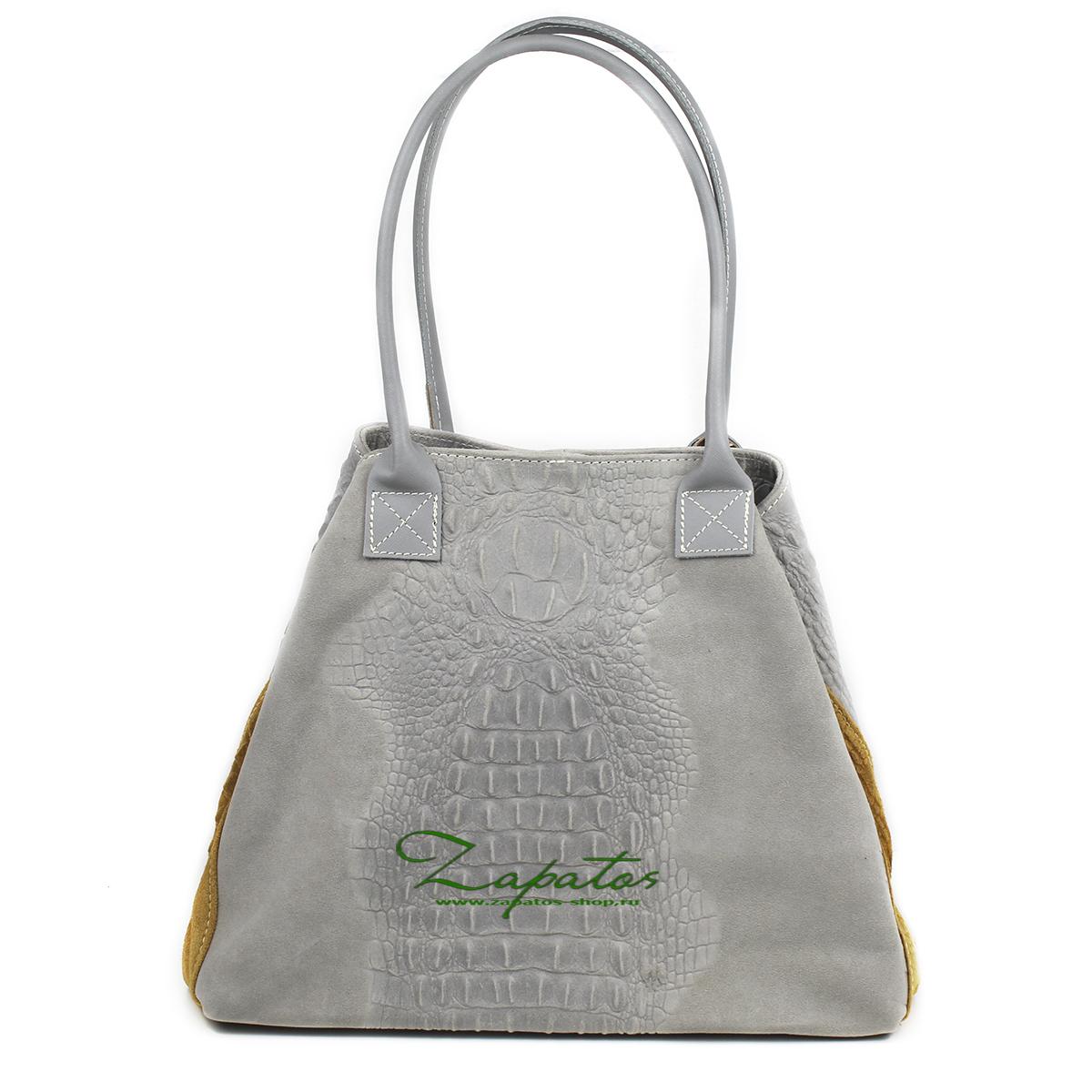 Кожаная сумка PELLE 1836/2 COCO GRIS