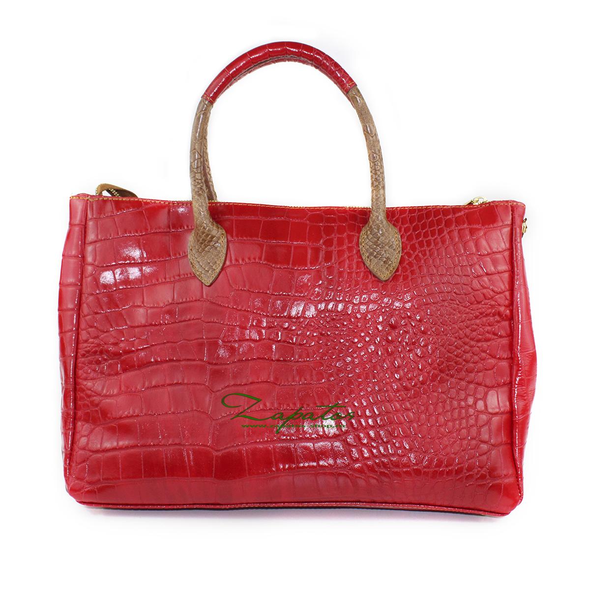 Кожаная сумка PELLE · KEYS · RED