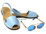 AB. Zapatos 320 CELESTE + Shell & Deep gato — azul