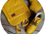 Ab.Zapatos 4619/2+PELLE Mochibol (840) Amarillo
