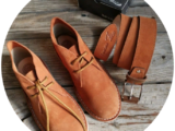 АВ. Zapatos 1515/2 brandy+Ab.Zapatos Pelle cinturon brandy (140) AКЦИЯ