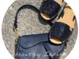 Абаркасы AB. Zapatos 320-5 GLITTER MARINO+PELLE Disnapa Marino 💙