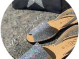 AB. Zapatos 320-5 GLITTER PLATA+GLITTER ESTRELLA