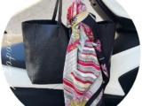 PELLE 21-23(670) Negro+Pañuelo silk 💗💛(160)