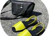 Ab.Zapatos 320-8 PC pistacho+PELLE 169 Negro