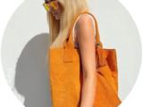 Pelle SHOPPER Por*ser 590 Naranja+Shell & Deep — beig