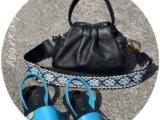 Ab.Zapatos 320-8 PC · Turquesa+PELLE · LUX negro