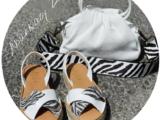AB. ZAPATOS CRUZ/YUTE · blanco zebra+PELLE · LUX blanco