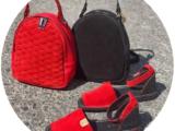 AB.Zapatos · 966 · Rojo-Negro+AB.Z · Pelle · mochila — СУМКА НА ВЫБОР