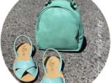 Zapatos Cruzado menta+AB.Z · Pelle · mochila NAPA (630) menta