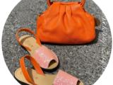 AB. Zapatos 320-5 Buble+PELLE · LUX mandarina
